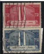 FRANCE      N° YVERT  :    316/317           OBLITERE - Used Stamps