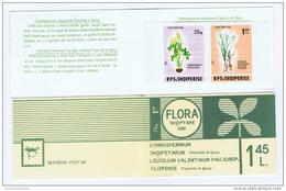 Albanien / Albania - Mi.2290/91B IMPERFORATED MNH Booklet H-Blatt 1 A CV 40, 1986 - Planten