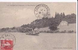 Carte 1908 Les Bords De La Mayenne : La Haute Roche Près De Chateau Gontier (bateau) - Non Classés