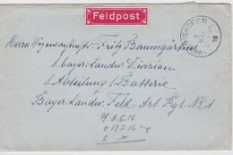 ALLEMAGNE 1916 LETTRE FELDPOST DE WOERISHOFEN - Allemagne
