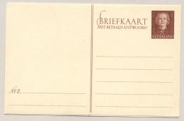 Nederland - 7+7 Cent Juliana En Face Briefkaart G310 - Ongebruikt - Ganzsachen