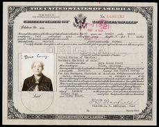 Certificate Of Citizenship 1939 Tulsa Oklahoma  German Woman  ,   Jude Judaika Jewish Emigration ? - Documenti Storici