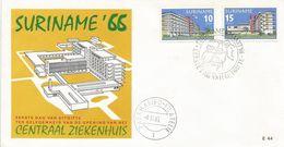 Suriname 1966 Parimaribo Hospital Health FDC Cover - Suriname