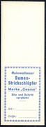 A7103 - Altes Etikett - Werbung - Damen Strickschlüpfer - Marke Ceama TOP - Reklame