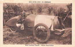 BOL D'OR 1932 - E. CHERET - BLOC MOTEUR STAUB, HUILE KERVOLINE - UN CYCLECAR - Rally