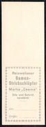 A7104 - Altes Etikett - Werbung - Damen Strickschlüpfer - Marke Ceama TOP - Reklame