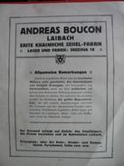 ANDREAS BOUCON-LAIBACH,SESSEL-FABRIK (POHISTVO/STOLI)-LJUBLJANA - Catalogues