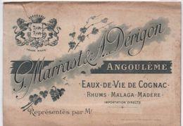 Carte Commerciale/ Cognac Fine Champagne/ G Marrast & A Dérigon/ Représentant/ ANGOULEME/ Vers 1900              OEN1 - Alcools