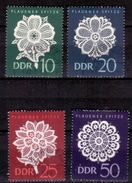 "DDR 1966, Mi.Nr. 1185-1188 Oberrand, Plauener Spitze I, Bogenentwertung Gestempelt ""Görlitz 27.5.66"" (0016) - Used Stamps"