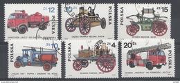 Pologne 1985 Mi.nr: 2961-2966 Entwicklung Der Fauerwehrfahrzeuge  OBLITERE / USED / GEBRUIKT - 1944-.... Republiek