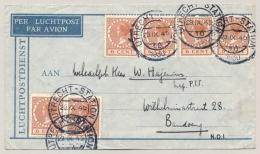 Nederlands Indië - 1930 - 1e Vlucht 14-daagse Dienst Van Utrecht Naar Bandoeng - Nederlands-Indië
