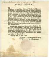 Brandenburg-Ansbach 1787 Freiherr Von Seckendorff Kern Feuerlein Gullmann Labaume Beaune Wein Ansbach - Historische Documenten