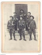 Photo Sur Carton Chasseurs Alpins - 13e Régiment - Guerre, Militaire