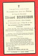 Faire Part Deces Edouard   DESBUISSON Décedé A Bois Grenier En 1942 - Décès