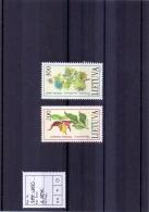 Litauen - Das Rote Buch Gefährdete Tiere - Und Pflanzenarten 1992 (**/MNH) - Lithuania