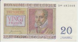 Belgium 20 Francs (1950) Pick 132 UNC - [ 2] 1831-... : Koninkrijk België