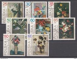 Pologne 1989  Mi.nr: 3237-3244 Blumenstilleben  OBLITERE / USED / GEBRUIKT - 1944-.... Republik