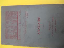 Annuaire/Soc. Am. Sec. Mutuels Employés Faculté Médecine Et Ecole Sup Pharmacie/Paris/ 1906                       VPN109 - Advertising