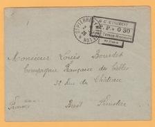 C.12  St-Pierre Et Miquelon 2.7.26 + GOUVERNEMENT P.P. 0.30 St-Pierre Verso= Brest 17.7.26 - St.Pierre Et Miquelon