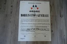 Une Réimpression Intégrale D'après L'original - Ordre De Mobilisation Générale Du Samedi 2 Septembre 1939 à O Heure - - Documenti