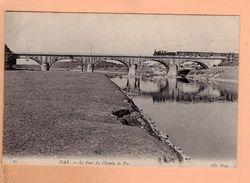 Cpa Cartes Postales Ancienne - Dax Pont Du Chemin De Fer 22 Train - Dax