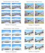 2009. Kyrgyzstan, Railways Of Kyrgyzstan, 4 Sheetlets IMPERFORATED, Mint/** - Kyrgyzstan