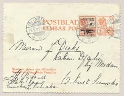 Nederlands Indië - 1929 - 2e Terugvlucht Binnenlandse Post Van PALEMBANG Naar MEDAN - Rare!! - Nederlands-Indië