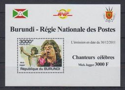 D53. Burundi - MNH - Famous People - Singers - 2011 - Deluxe - Celebridades