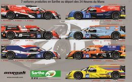 24 Heures Du Mans 2017 -  Un Constructeur Sarthois Dans La Course!  -  Onroak (7 Voitures )  -  Carte Promo - Le Mans