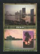 United Arab Emirates UAE Dubai Picture Postcard 2 Scene Dubai View Card U A E - Dubai
