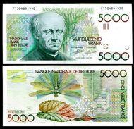 Belgium 5000 Francs (1982-94) Pick 145 UNC - [ 2] 1831-... : Belgian Kingdom