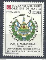 1986 ORDRE MALTE PA F26 ** Armoirie El Salvador , Issu De Feuille - Malte (Ordre De)