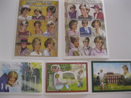 Senegal-1998-famous People-lady Diana-MI.1531-49,bl.77-79 - Senegal (1960-...)