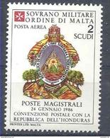 1986 ORDRE MALTE PA 26 ** Armoirie Honduras , Issu De Paire - Malte (Ordre De)