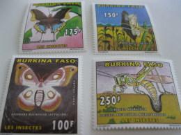 Burkina Faso-1996-fauna,flora-butterflies,insects-MI.1419-22 - Burkina Faso (1984-...)