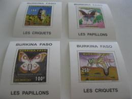 Burkina Faso-1996-fauna,flora-insects-deluxe MI.1415-18A - Burkina Faso (1984-...)