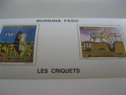 Burkina Faso-1996-fauna,flora-insects-MI.1419-22 Sheet - Burkina Faso (1984-...)