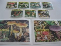 Burkina Faso-1996-fauna,flora-mushrooms-deluxe MI.1384-91A,BL.159-160 - Burkina Faso (1984-...)