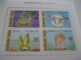 Burkina Faso-1996-fauna,flora-mushrooms-klb.MI.1380-83A - Burkina Faso (1984-...)