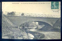 Cpa Du 02  Voulpaix Le Pont De Chemin De Fer Et La Rivière    SEP17-24 - Otros Municipios