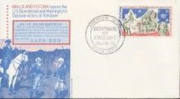 Wallis Futuna 1976, 200th Indipendence USA, Washington, 1val In FDC - Covers & Documents