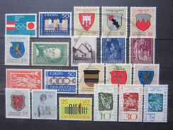VEND TIMBRES DU LIECHTENSTEIN ANNEES 1964 + 1965 COMPLETES , NEUFS SANS CHARNIERE !!! - Liechtenstein