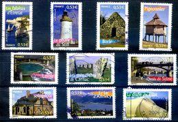 FRANCE 2005 YVERT N0 3814-3823 COTE 7E - Usados