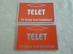 DENMARK - 2 MINT Optical Phonecards WITH AND WITHOUT Star - Danemark