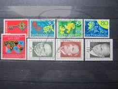 VEND BEAUX TIMBRES DU LIECHTENSTEIN ANNEE 1968 COMPLETE , XX !!! - Liechtenstein