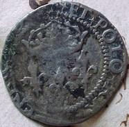 MONNAIE HENRI  III  ROI DE FRANCE ET DE POLOGNE 1576 , Croix Cléchée Fleurdelisée , Sol Parisis Voir Détails Prix Fixe - 987-1789 Monnaies Royales