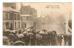 75 - PARIS INONDATIONS CRUE DE LA SEINE QUAI DE LA RAPÉE - PARAPLUIE - 2 Scans - - Inondations De 1910