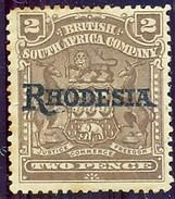 BSAC. Rhodesia 1909. 2d Brown. SG 102*. - Groot-Brittannië (oude Kolonies En Protectoraten)