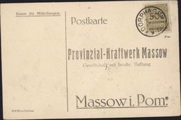 Postkarte Timbre Inflation Allemagne YT 305 500 Millions Marks CAD DORPHAGEN 7 11 1923 Pour Massowi Pomeranie Facture - Deutschland