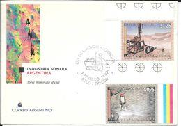 INDUSTRIA MINERA ARGENTINA  FDC ARGENTINA  SOBRE RARA CABECERA TRELEW L'ARGENTINE MINING MINE MINES MINAS - Mineralen